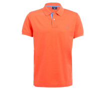 Piqué-Poloshirt - koralle