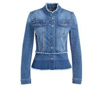Jeansjacke mit Nietenbesatz - blau