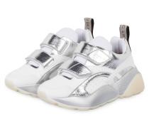 Plateau-Sneaker ECLYPSE - WEISS/ SILBER