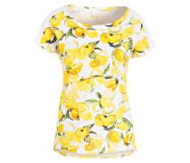 T-Shirt - weiss/ gelb/ grün
