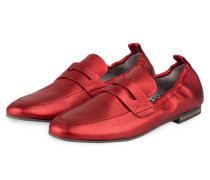 Loafer TARA - ROT METALLIC