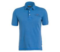 Piqué-Poloshirt ELBAS - blau