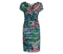 Kleid - schwarz / türkis / grün