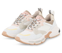 Plateau-Sneaker - WEISS/ ROSA/ GRAU