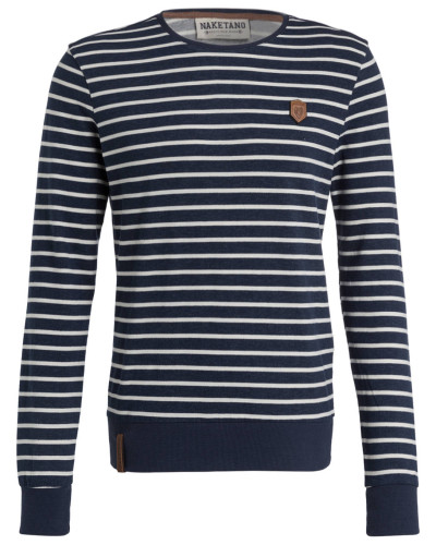 Sweatshirt - blau/ weiss gestreift