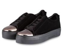 Plateau-Sneaker BIG aus Samt - schwarz
