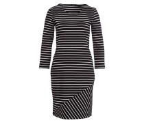 Kleid WEIKI - schwarz/ weiss gestreift