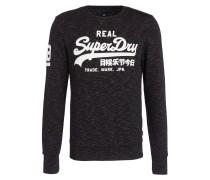Sweatshirt - schwarz meliert