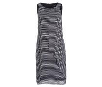 Kleid - dunkelblau/ weiss