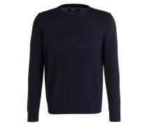 Feinstrick-Pullover mit monochromen Logo-Stiching
