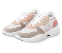 Plateau-Sneaker - HELLROSA/ NUDE/ TAUPE