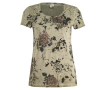 T-Shirt - oliv/ schwarz