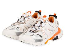 Sneaker TRACK - WEISS/ ORANGE