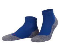 Running-Socken RU4 SHORT - blau/ grau