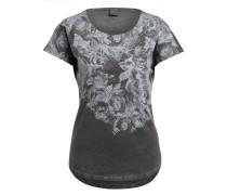 T-Shirt mit Nietenbesatz