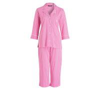 Pyjama - pink/ weiss/ grün gestreift