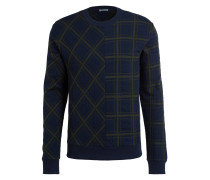 Sweatshirt - navy/ grün