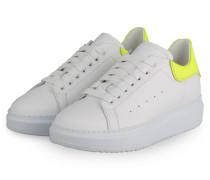 Plateau-Sneaker GALA - WEISS/ NEONGELB