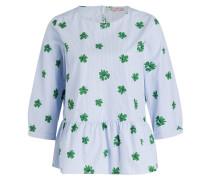 Bluse - hellblau/ weiss/ grün