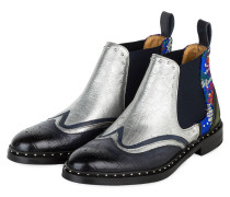 Chelsea-Boots SALLY - NAVY/ SILBER
