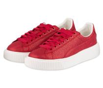 Plateau-Sneaker BASKET PLATFORM LUX - rot