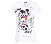 T-Shirt GO FOR IT MICKEY mit Schmucksteinbesatz