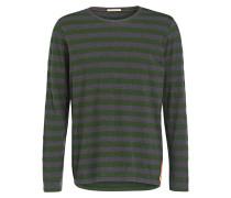 Langarmshirt ORVAR - grün/ dunkelgrau