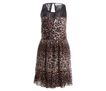 Kleid - schwarz/ braun/ hellbraun