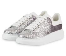 Plateau-Sneaker - SILBER/ LILA/ WEISS