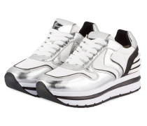 Plateau-Sneaker MAY - WEISS/ SILBER