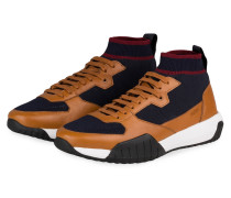 Hightop-Sneaker STORM - BRAUN/ DUNKELBLAU