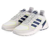 Sneaker 90S VALASION - ECRU/ DUNKELBLAU