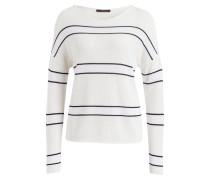 Pullover - weiss/ schwarz gestreift