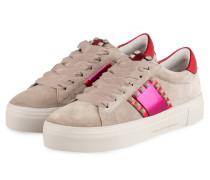 Plateau-Sneaker BIG - GRAU/ FUCHSIA/ ROT