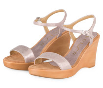 Wedges RITA - ROSA METALLIC