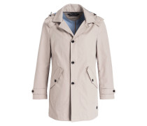 Mantel mit abnehmbarer Kapuze - beige