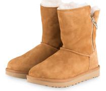 Boots CLASSIC SHORT SPARKLE - CAMEL