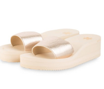 Plateau-Sandalen POOL - GOLD