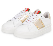 Plateau-Sneaker - WEISS/ GOLD