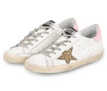 Sneaker SUPERSTAR - WEISS/ GOLD/ ROSA