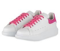 Plateau-Sneaker - WEISS/ FUCHSIA