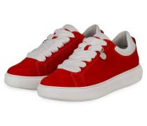 Plateau-Sneaker FLORA - ROT