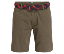 Chino-Shorts PLEK Loose-Fit - oliv