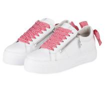 Plateau-Sneaker BIG - WEISS/ ROT