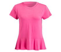 T-Shirt mit Volant - pink