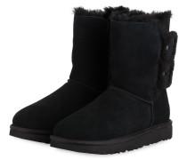 Boots BAILEY FLUFF BUCKLE - SCHWARZ