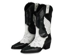 Cowboy Boots - DUNKELGRÜN/ WEISS