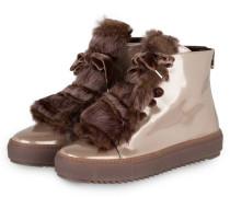 Hightop-Sneaker mit Fellbesatz