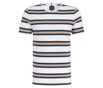 T-Shirt BERGEN - offwhite/ navy/ camel