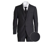 Anzug Slim-Fit - dunkelgrau meliert